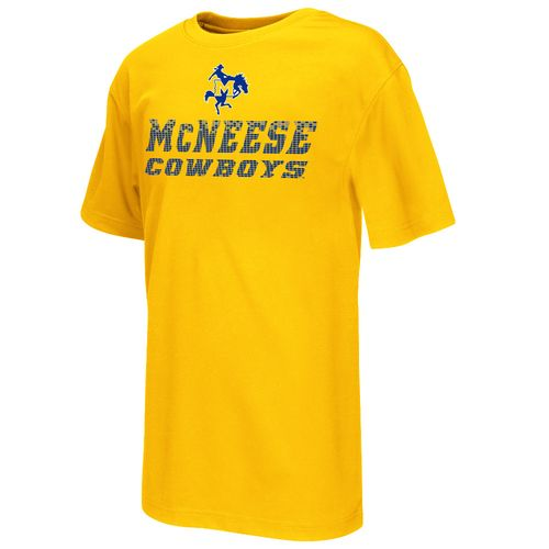 Colosseum Athletics Boys' McNeese State University Pixel Short Sleeve T-shirt