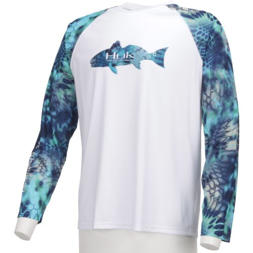 Huk Men's Kryptek Redfish K.O. Long Sleeve Raglan T-shirt