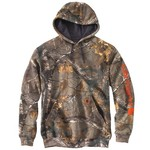 Carhartt Men's Midweight Camo Sleeve Logo Hooded Sweatshirt