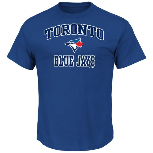 Majestic Men's Toronto Blue Jays Heart and Soul T-shirt - view number 1