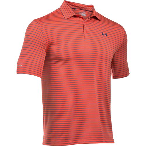 Under Armour Men's coldblack Address Stripe Polo Shirt