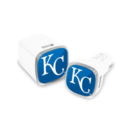Mizco Kansas City Royals Car and Wall Charger Set