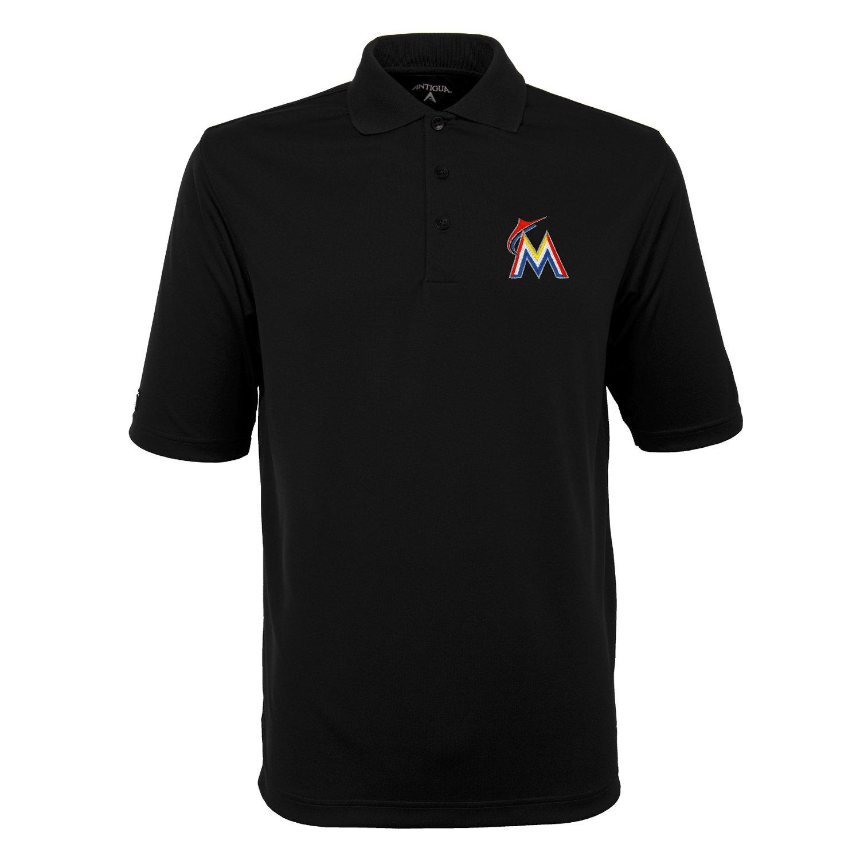 Antigua Men's Miami Marlins Exceed Polo Shirt
