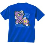 New World Graphics Women's McNeese State University Bright Plaid T-shirt