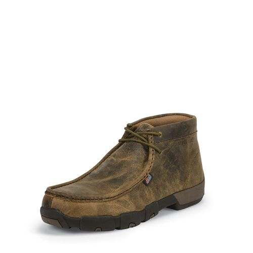 Justin Men's Casuals Driver Moc Steel-Toe Work Boots - view number 6