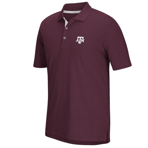 adidas™ Men's Texas A&M University climacool® Grid Texture Polo Shirt