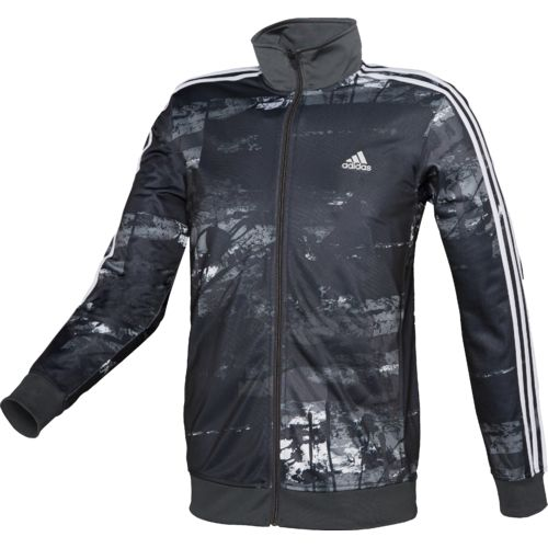 adidas Men's Essentials Elemental Raw Print Track Jacket - view number 1