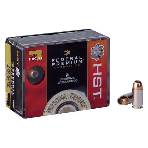 Display product reviews for Federal Premium® Personal Defense® HST® .380 Auto/9 x 17mm Short 99-Grain Centerfire Pistol Ammuniti