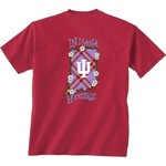 New World Graphics Women's Indiana University State Bright Plaid T-shirt