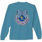 New World Graphics Women's University of Kansas Ribbon Bow Long Sleeve T-shirt