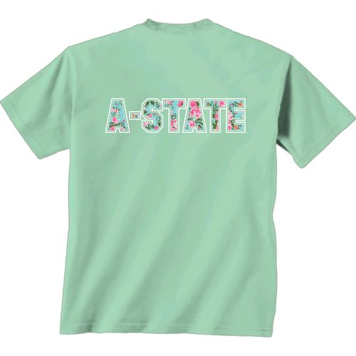 New World Graphics Women's Arkansas State University Floral T-shirt