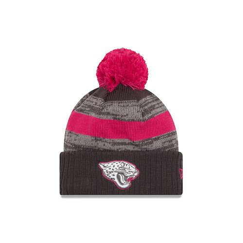 New Era Men's Jacksonville Jaguars 2016 Breast Cancer Awareness Knit Cap