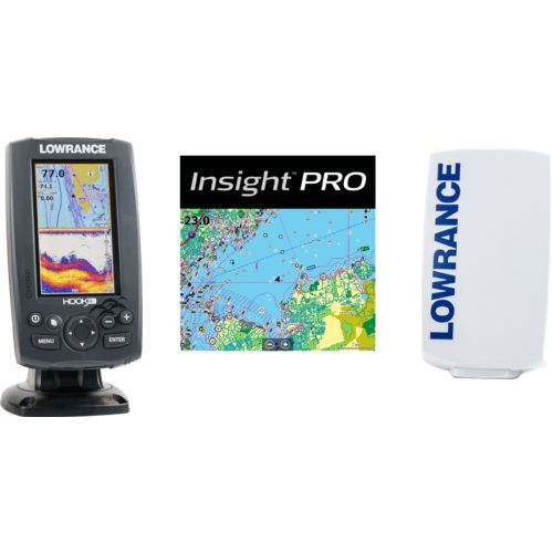 Lowrance Hook-4 Mid/High/Downscan Fishfinder/Chartplotter with Insight Pro - view number 2