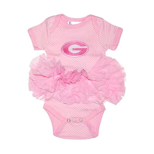 Two Feet Ahead Infant Girls' University of Georgia Pin Dot Tutu Creeper