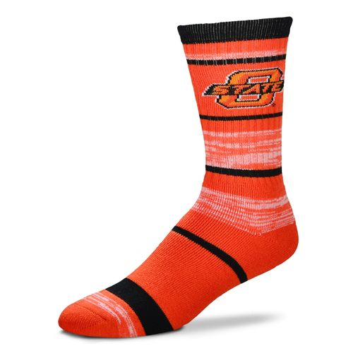 For Bare Feet Men's Oklahoma State University Stripe Athletic Crew Socks
