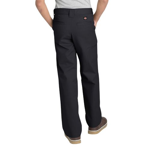 Dickies Boys' Relaxed Fit Straight Leg FlexWaist Double Knee Uniform Pant - view number 2