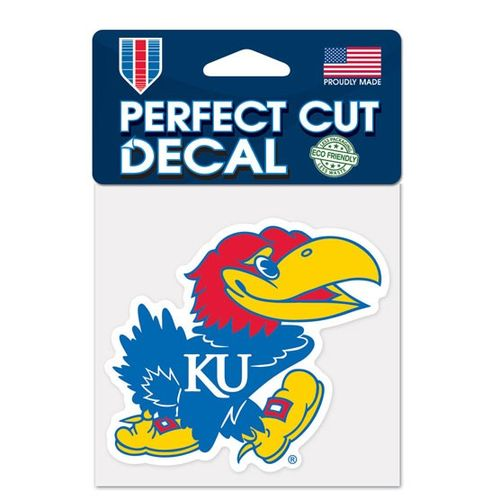 WinCraft University of Kansas Perfect Cut Color Decal