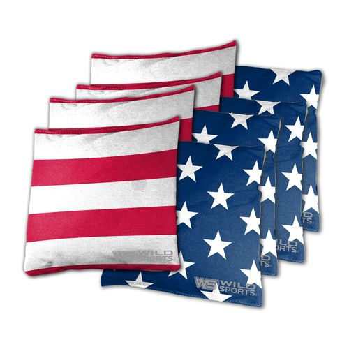 Wild Sports Stars and Stripes Beanbags 8-Pack