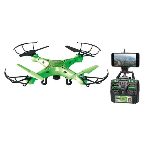 World Tech Toys Striker Glow-in-the-Dark Live Feed Wi-Fi Camera Spy Drone