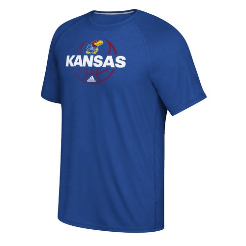 adidas™ Men's University of Kansas Fade Away Ultimate Long Sleeve T-shirt