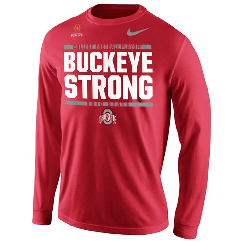 Nike Men's Ohio State University 2017 Playoff Bound Buckeye Strong Long Sleeve T-shirt