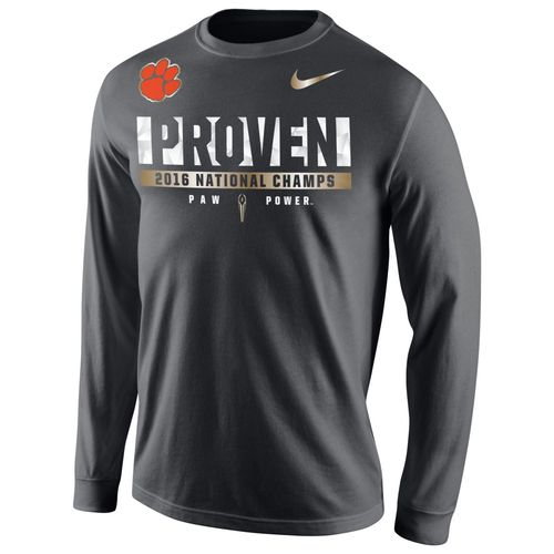 Nike Men's Clemson University 2016 National Champions Locker Room Long Sleeve T-shirt