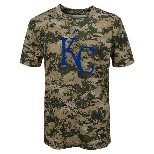 MLB Boys' Kansas City Royals Digi Camo T-shirt