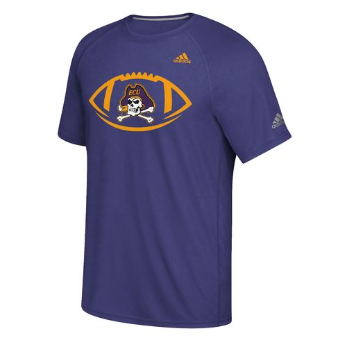 adidas Men's East Carolina University Sideline Pigskin T-shirt