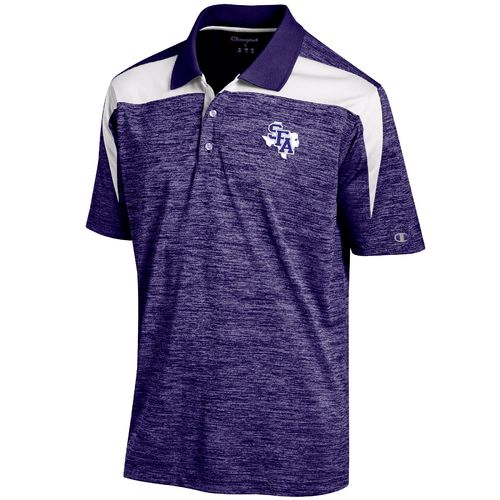 Champion™ Men's Stephen F. Austin State University Synthetic Colorblock Polo Shirt