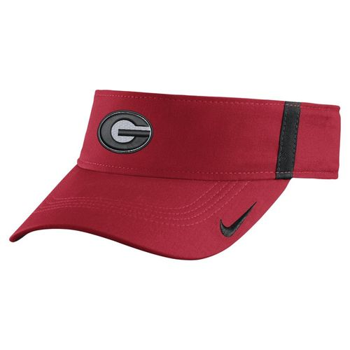 Nike™ Men's University of Georgia AeroBill Sideline Visor - view number 1