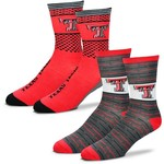 For Bare Feet Men's Texas Tech University Father's Day Socks - view number 1