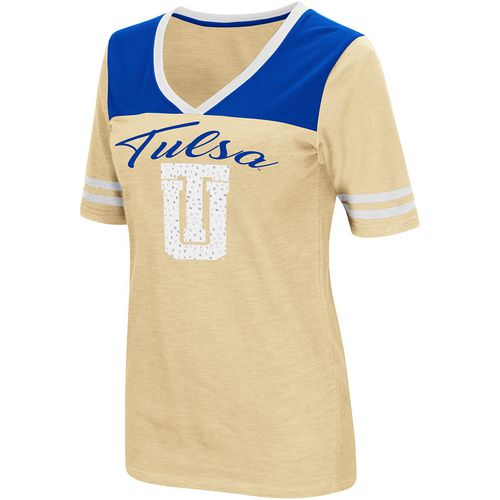 Colosseum Athletics Women's University of Tulsa Twist 2.1 V-Neck T-shirt