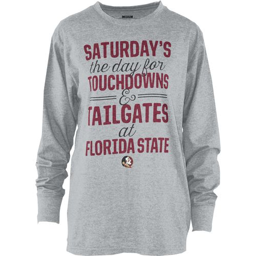 Three Squared Juniors' Florida State University Touchdowns and Tailgates T-shirt