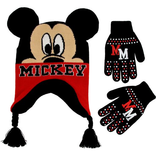 ABG Accessories Boys' Mickey Mouse Scandi Hat and Glove Set