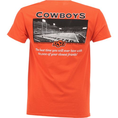 New World Graphics Men's Oklahoma State University Friends Stadium T-shirt