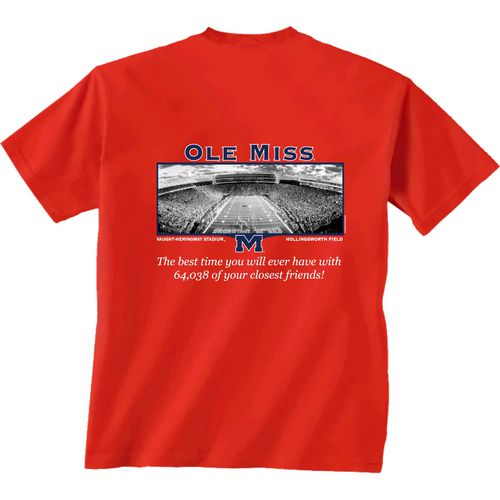 Top New World Graphics Men's University of Mississippi Friends Stadium T-shirt free shipping