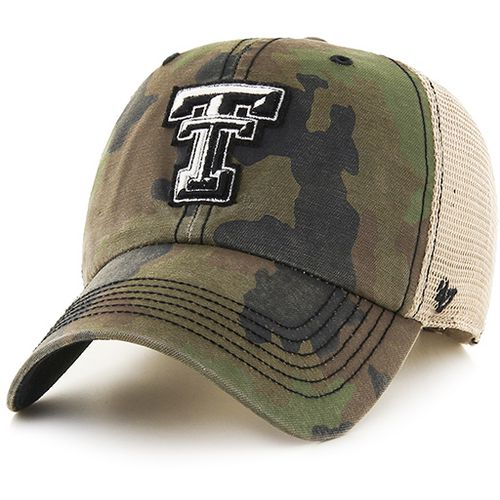 '47 Texas Tech University Burnett Frontline Camo Clean Up Cap