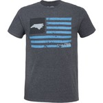 State Love Men's North Carolina American Flag Short Sleeve Graphic T-shirt - view number 1