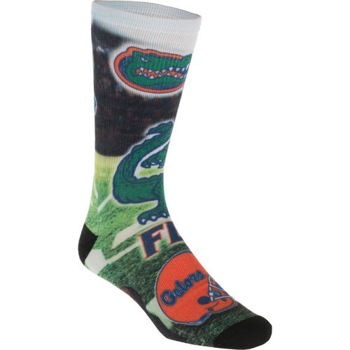 For Bare Feet Men's University of Florida Mascot Montage Sublimated Crew Socks