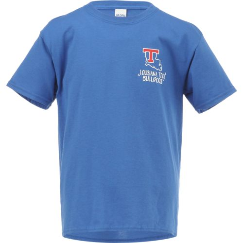 New World Graphics Girls' Louisiana Tech University Where the Heart Is Short Sleeve T-shirt