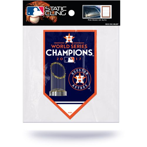 Rico Astros 2017 World  Series Champions Die  Cut Static Cling Decal