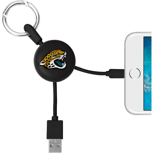 Mizco Jacksonville Jaguards Lightening Phone Charger Keychain Cable