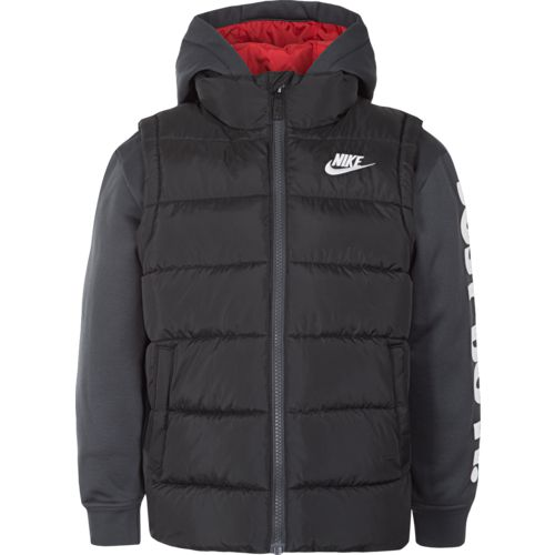 Nike Toddler Boys' Therma Padded Jacket Mock Hoodie