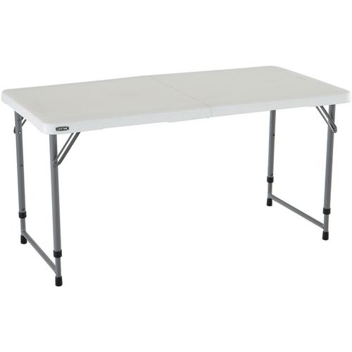 Lifetime 4 ft Light Commercial Adjustable-Height Fold-In-Half Table