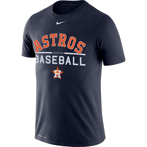 Nike Men's Houston Astros Wordmark Practice T-shirt