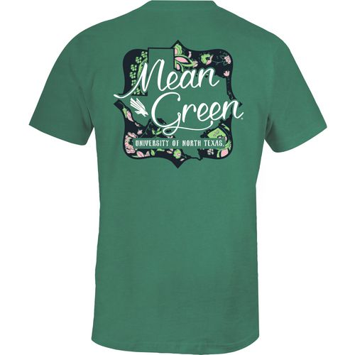 Image One Women's University of North Texas State Cutout Comfort Color T-shirt