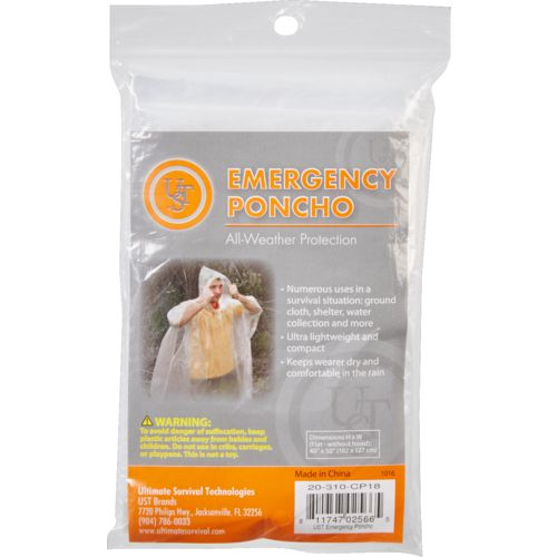 UST Brands Adults' Emergency Poncho