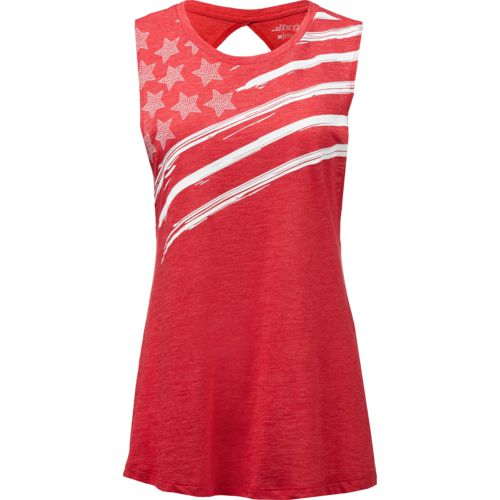 BCG Women's Asymmetrical Stars Twist Back Tank Top