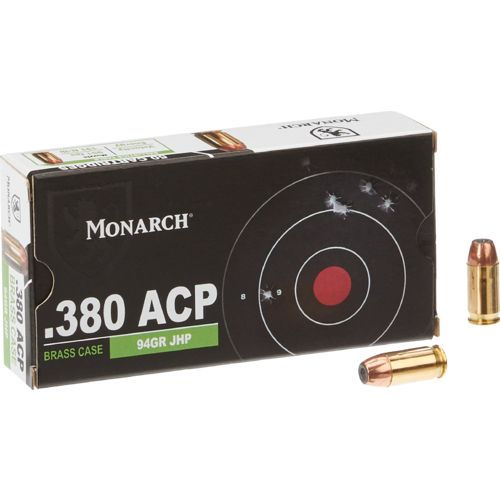 Monarch® JHP .380 Automatic 94-Grain Pistol Ammunition