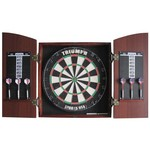 Triumph Sports USA Arched Cabinet Bristle Dartboard Combo - view number 1